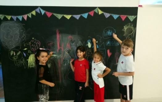 """Ana Sınıfı Öğrencileri Kara Tahta ve Tebeşir İle Tanıştı """"Kindergarten Students Met With The Blackboard And The Chalk"""""""