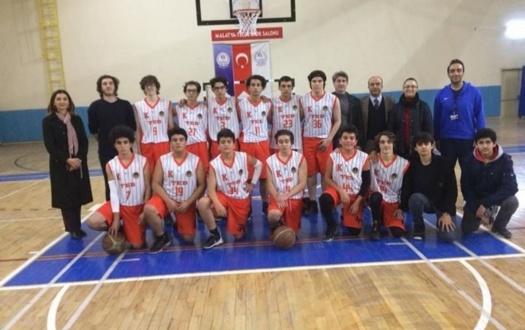Lise Erkek Basketbol Genç (B) Takımımız Çeyrek Finalde.