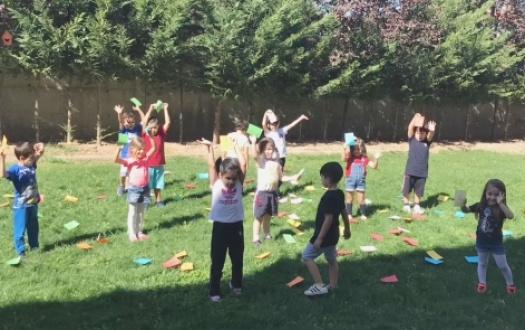"""Ana sınıfımızın 6 yaş öğrencileri eğlence yarışında """" 6 years old students of our pre-school is in the entertainment race!"""""""